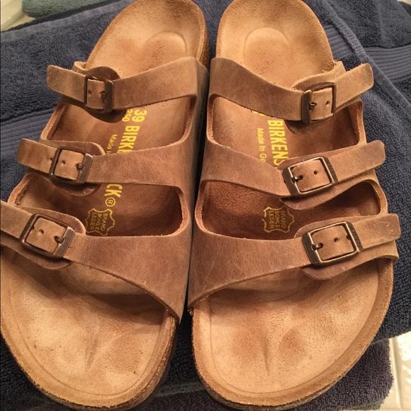 3877461b5918 Birkenstock Shoes - Birkenstock Florida oiled leather tobacco 39R